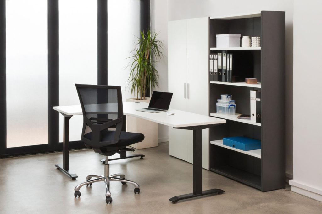 Shelving, Room, Office, Shelf, Office Chair, Desk, Table, Chair, Furniture, Computer Desk