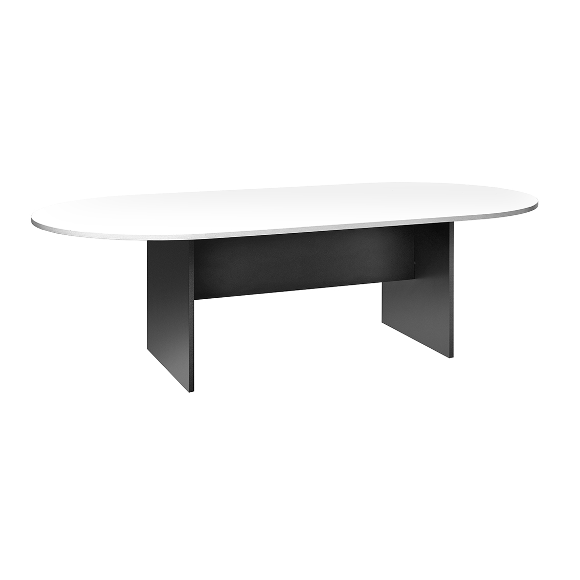 Picture of: Boardroom Table Oval 2400 X 1200mm X H420mm Ironstone Base White Top Jasper J
