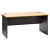 Straight Desk - Beech Top - Ironstone Slab End