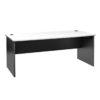 Straight Desk - White Top - Ironstone Slab End 1800w x 800d x 730h